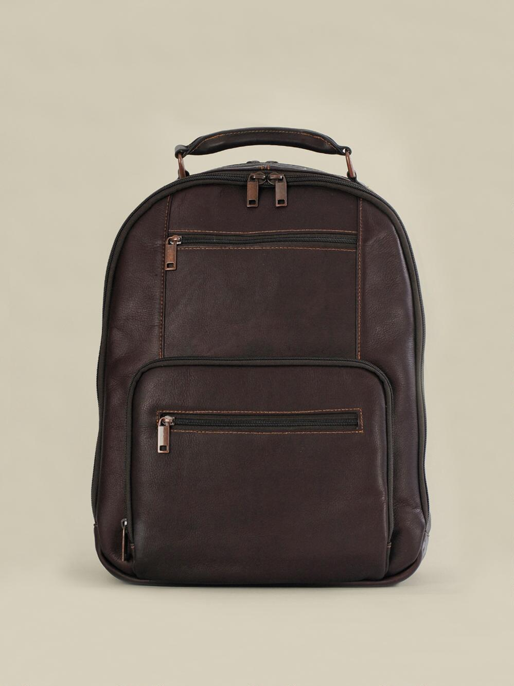 Wilsons Leather Mens, Womens Vacqueta Leather Laptop Backpack