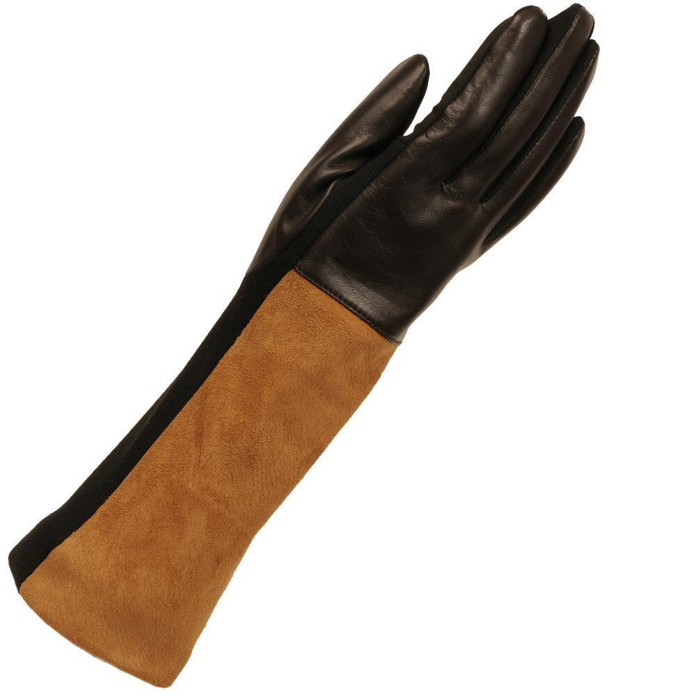 Womens colored leather gloves - Wilsons Leather Womens Long Color Block Leather Glove