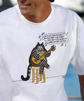 Short-Sleeve Eat Them Mousies White Crew