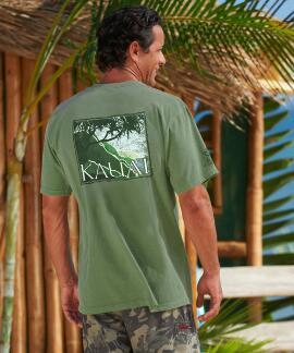 Short-Sleeve Hala Napali Ti Leaf Crew T-shirt