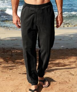 Black Canton Pants