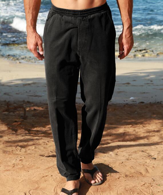 Black Canton Pants