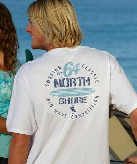 Short-Sleeve Surf Competition White Crew