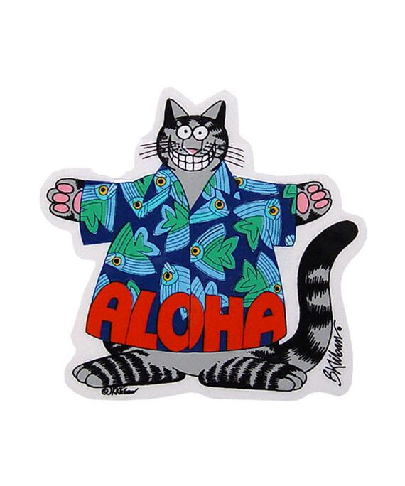 Kliban Aloha Cat - Sticker