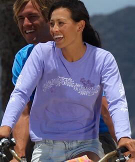 Long-Sleeve Punalei Lavender Mini T-shirt