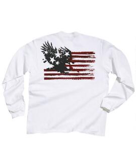Long-Sleeve American Pride White Classic Crew
