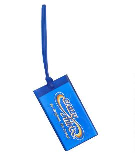 Crazy Shirts Tri Logo Blue Clear - Luggage Tag