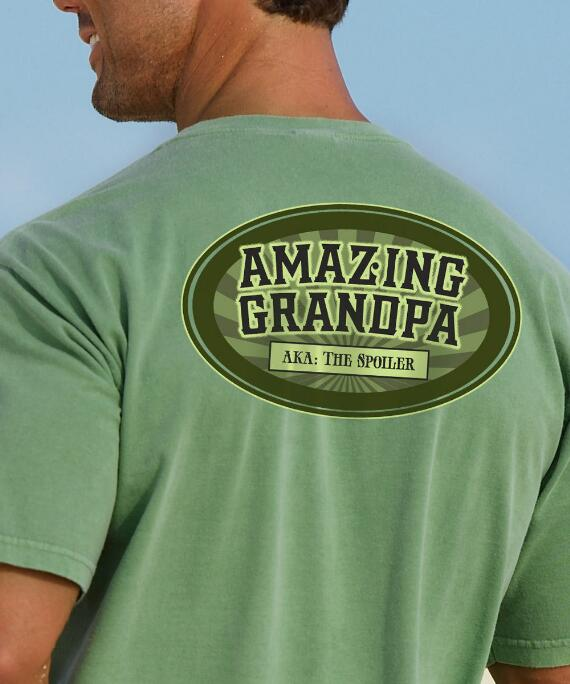 Short-Sleeve Amazing Grandpa Money Crew T-shirt