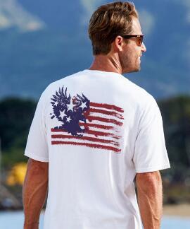 Short-Sleeve American Pride White Crew
