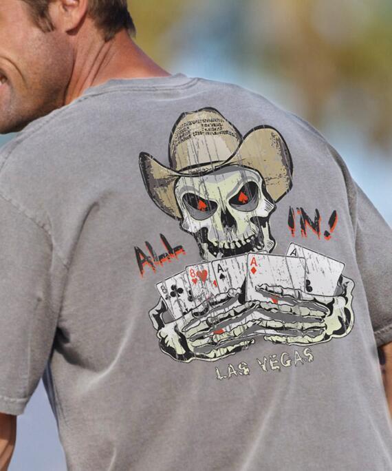Short-Sleeve Dead Mans Hand Crater Crew T-shirt