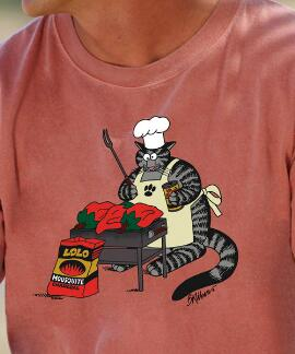 Short-Sleeve Chile BBQ Cat Chile Crew T-shirt