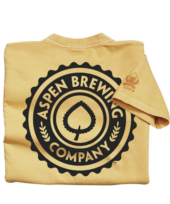 Short-Sleeve Aspen Brewing Co. Logo Pale Ale Crew T-shirt