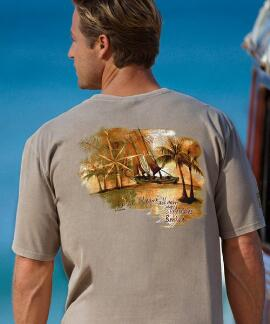 Short-Sleeve Sail Away Kona Coffee Crew T-shirt