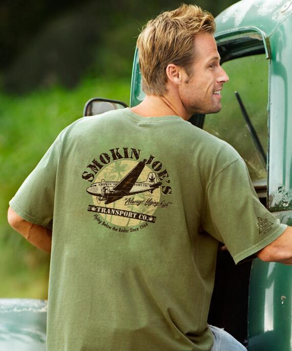 Short-Sleeve Smokin Joes Hemp Crew T-shirt