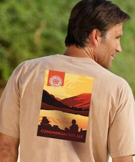 Short-Sleeve Aspen Brewing Co. Conundrum Rum Crew T-shirt