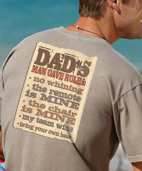 Short-Sleeve Dads Man Cave Kona Coffee Crew T-shirt