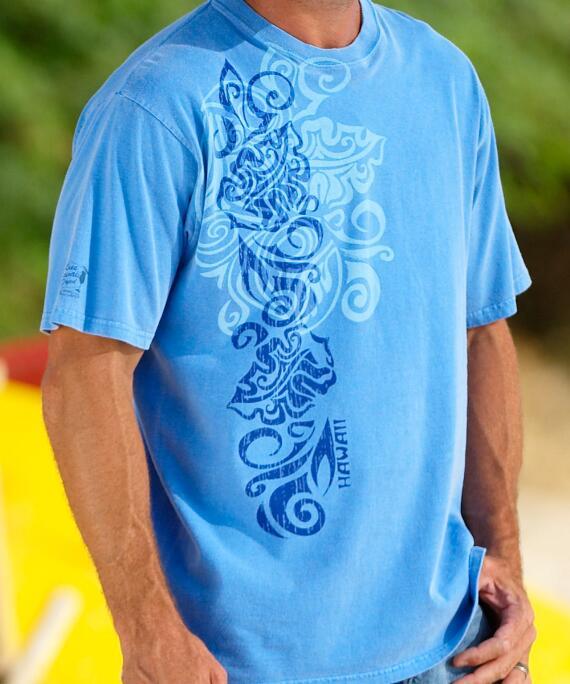 Short-Sleeve Jakarta Surf Blue Hawaii Crew T-shirt