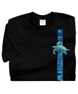 Short-Sleeve Honu Aloha Black Crew