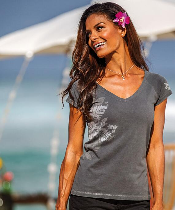 Short-Sleeve Kalei Graphite Pima Shirt