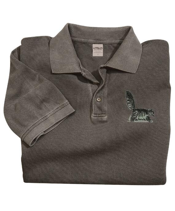 Short-Sleeve Bad Cat Crater Pique' Polo Shirt