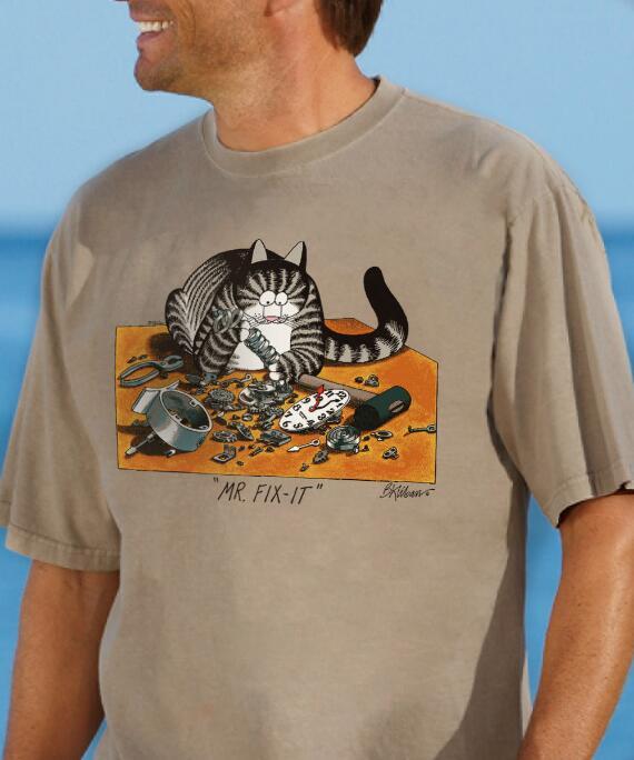 Short-Sleeve Mr. Fix It Kona Coffee Crew T-shirt