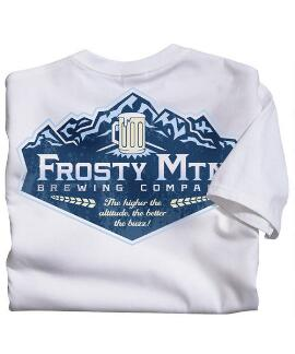 Short-Sleeve Frosty Mtn Brew White Crew