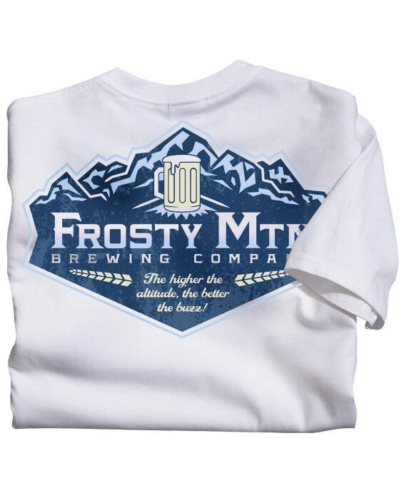 Short-Sleeve Frosty Mtn Brew White Crew