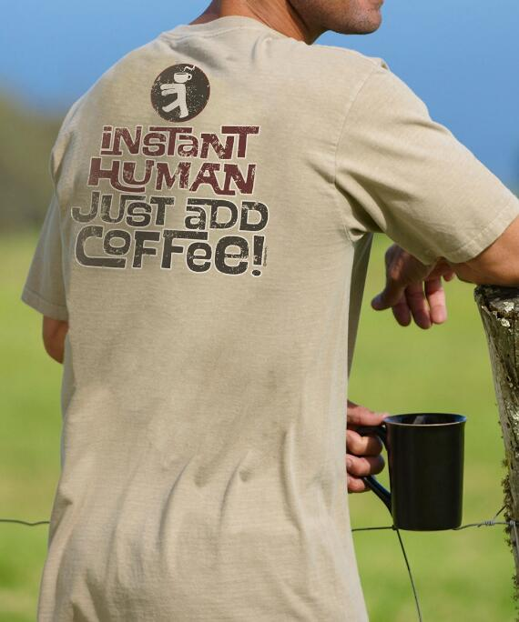 Short-Sleeve Instant Human Kona Coffee Crew T-shirt