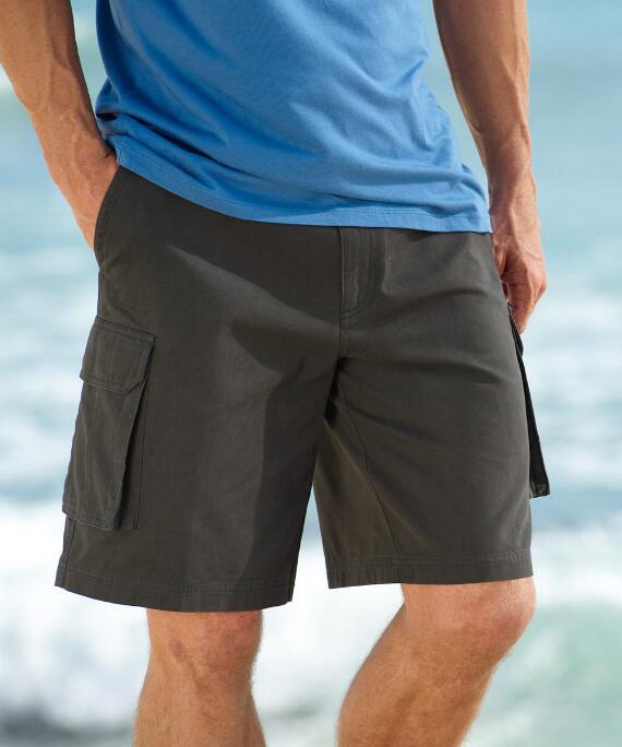Graphite Twill Cargo Shorts