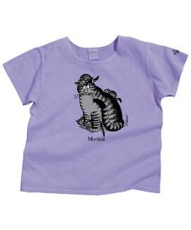 Short-Sleeve Kitten Kaboodle Lavender Scoop Neck