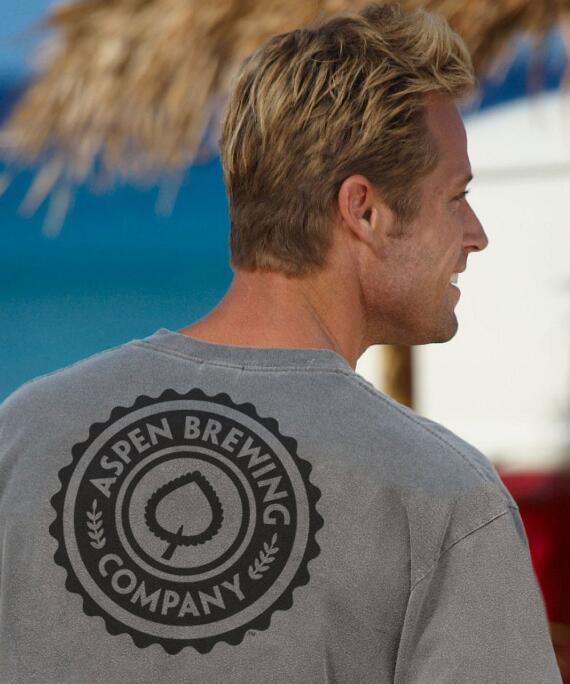 Long-Sleeve Aspen Brewing Co. Logo Crater Classic Crew