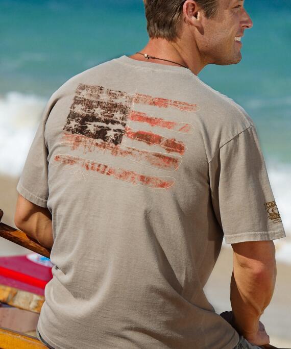 Short-Sleeve USA Forever Kona Coffee Crew T-shirt