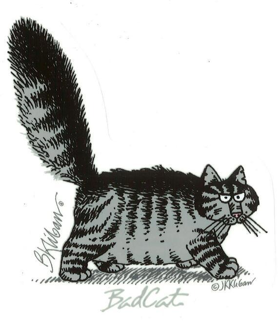 Kliban Bad Cat - Sticker