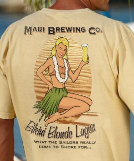 Short-Sleeve Maui Brewing Co. Bikini Blonde Ale Pale Ale Crew T-shirt