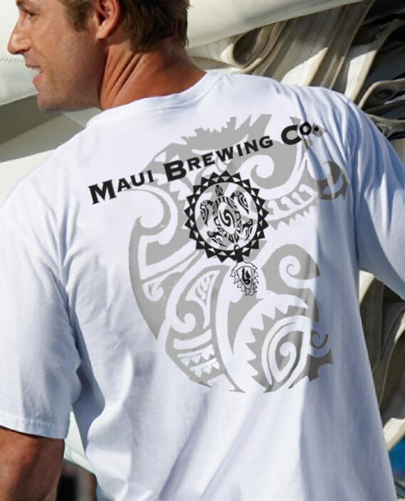 Short-Sleeve Maui Brewing Co. Tattoo White Crew