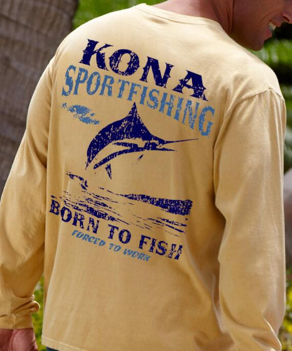 Long-Sleeve Born To Fish Pale Ale Classic Crew