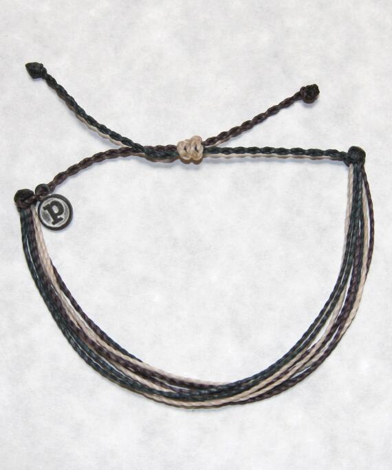 Pura Vida Corded Bracelet - Cream/Gray Bracelet