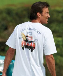 Short-Sleeve American Pickup White Crew