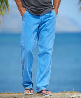 Blue Hi Dyed Logo Blue Hawaii Twill Pant
