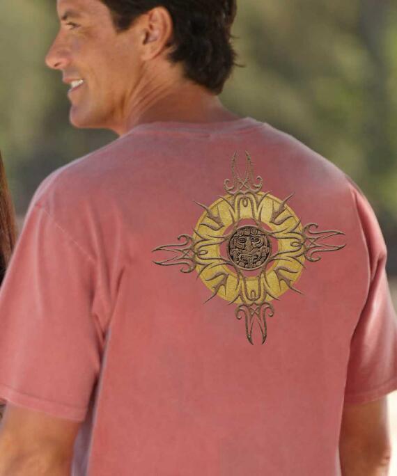 Short-Sleeve Sun Medallion Chile Crew T-shirt