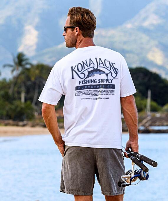 Short-Sleeve Kona Jack's White Crew