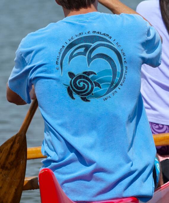 Short-Sleeve Malama Blue Hawaii Crew T-shirt
