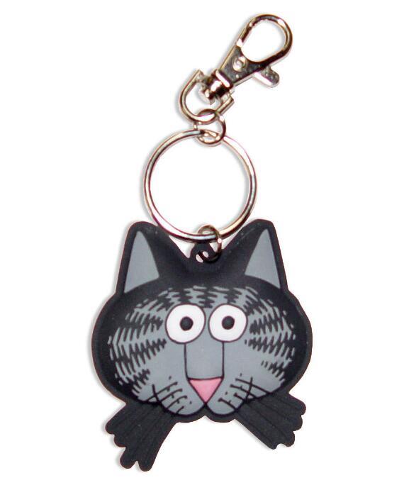 Kliban Cat Face - PVC Keychain
