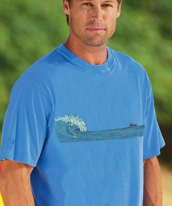 Short-Sleeve Pacific Surf Blue Hawaii Crew T-shirt