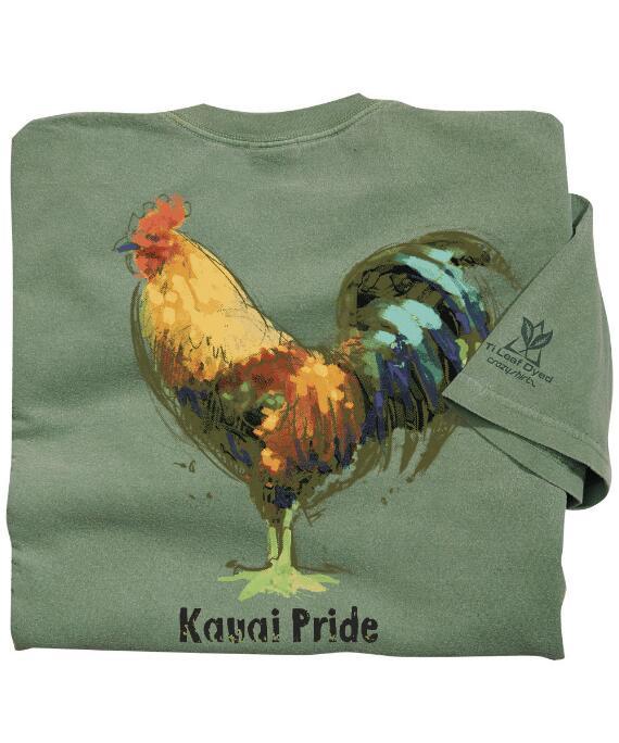 Short-Sleeve Chicken Scratch Ti Leaf Crew T-shirt