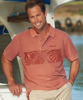 Short-Sleeve Techno Palms Chile Pique' Polo Shirt