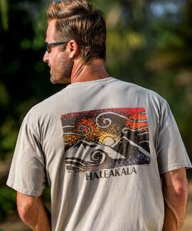 Short-Sleeve Sunrise Petro Kona Coffee Crew T-shirt