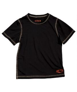 Short-Sleeve Manoflage Black Men's Swim Shirt