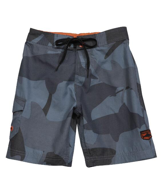 Manoflage Charcoal/gray Floral Board Short-
