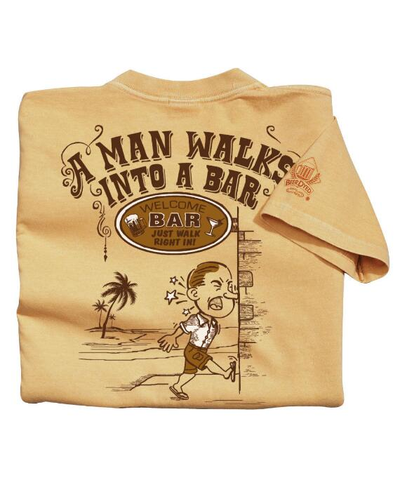 Short-Sleeve Walks Into A Bar Pale Ale Crew T-shirt